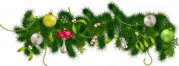 обоя праздничные, векторная графика , новый год, игрушки, шары, ветки