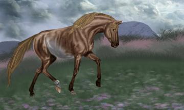 обоя рисованное, животные,  лошади, лошадь, фон