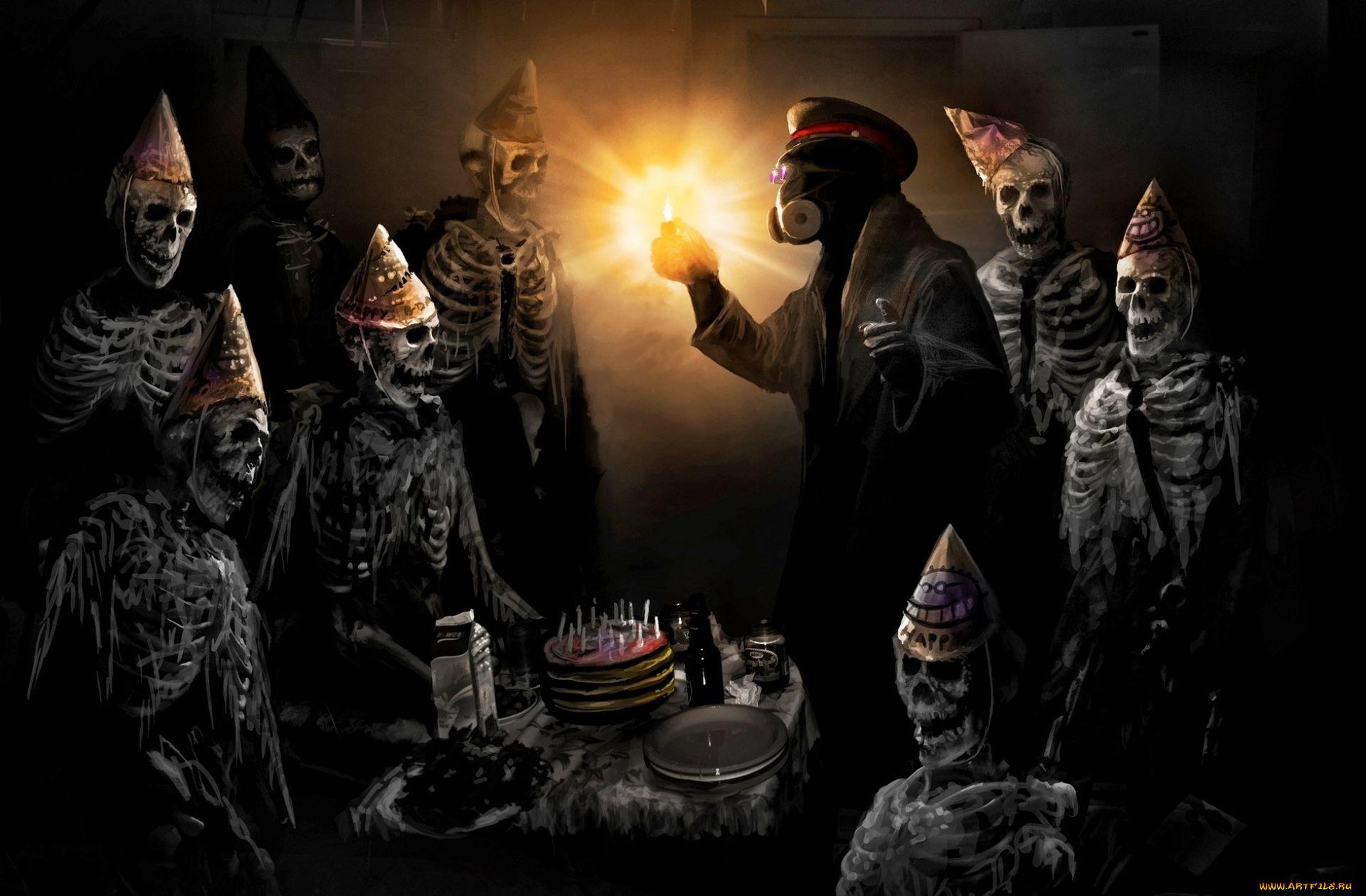 Страшные картинки на день рождения, автомата томпсона днем
