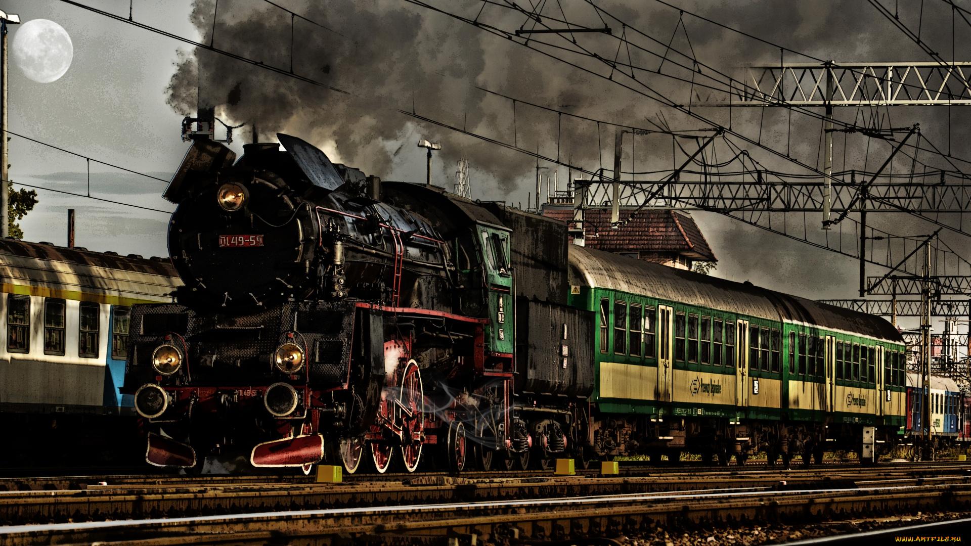 ткани оригинальное фото паровозов с вагонами на станции позволит