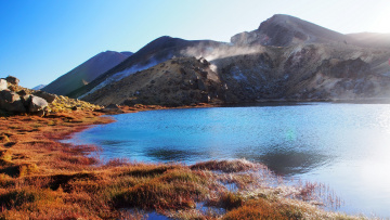 Картинка emerald+lake+new+zealand природа реки+озера