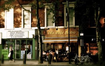 обоя города, лондон , великобритания, shaftsbury, кафе
