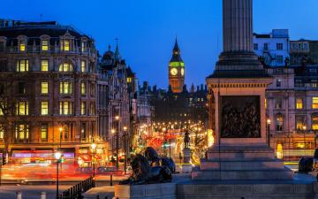 обоя trafalgar square,  whitehall, города, лондон , великобритания, trafalgar, square, whitehall