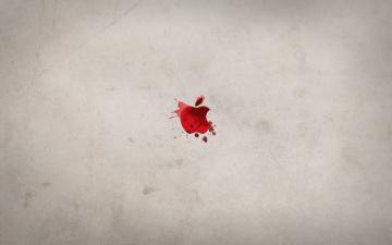 Картинка компьютеры apple кровь пятна брызги