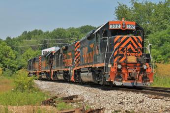Картинка техника поезда железная дорога рельсы локомотив вагоны состав