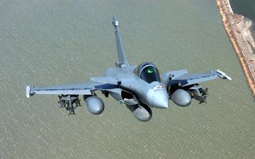 обоя авиация, боевые самолёты, rafale, dassault, самолет, полет, море, берег