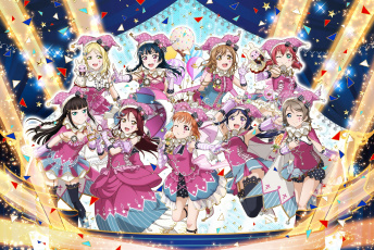 обоя аниме, love live,  school idol project, love, live, school, idol, project