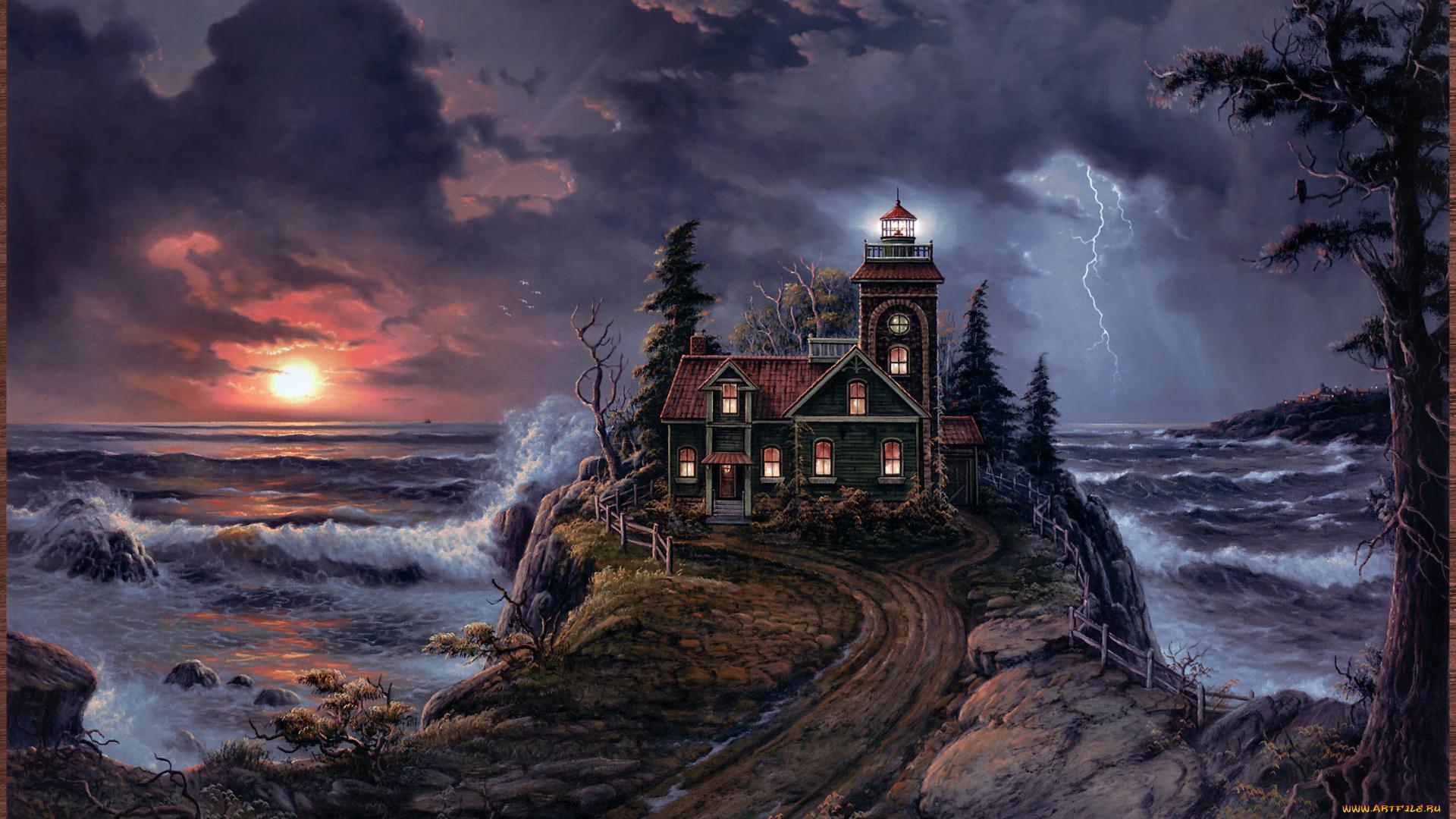 сегодняшний день живые обои маяк шторм чистотелом