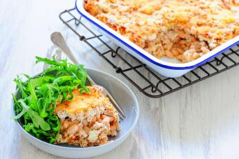 Картинка еда вторые+блюда фасоль зелень запеканка второе блюдо