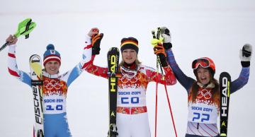 обоя спорт, лыжный спорт, лыжи, победители, снег, женщины, лыжницы, олимпиада, сочи, радость, палки
