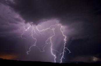 Картинка природа молния +гроза небо ночь тучи стихия