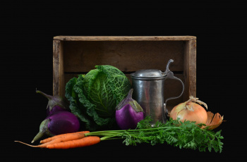 Картинка еда овощи баклажаны капуста морковка лук