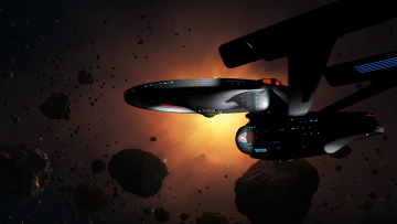 Картинка видео+игры -+star+trek+constellation метеориты вселенная полет космический корабль