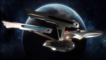 Картинка видео+игры -+star+trek+constellation планета вселенная полет космический корабль