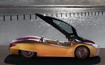 обоя rinspeed concept futuristic, автомобили, rinspeed, concept, futuristic, car, медный