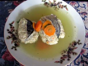 обоя еда, первые блюда, морковь, рыба, уха