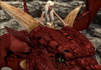 обоя 3д графика, фантазия , fantasy, фон, взгляд, девушка