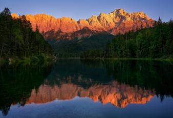 обоя природа, реки, озера, озеро, горы, отражения, небо, лес