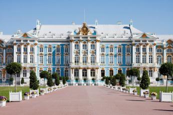 обоя большой екатерининский дворец, города, - дворцы,  замки,  крепости, пушкин, царское, село, санкт-, петербург, большой, екатерининский, дворец