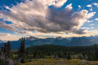 обоя природа, пейзажи, облака, над, национальным, парком, глейшер, канада