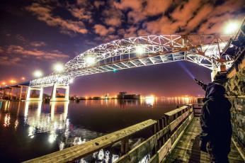 обоя города, - мосты, река, мост