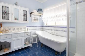 обоя интерьер, ванная и туалетная комнаты, ванна, ванная, комната, сантехника