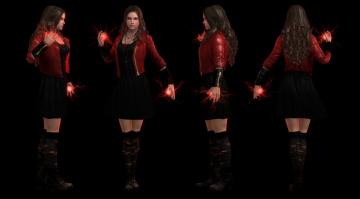 обоя 3д графика, фантазия , fantasy, магия, фон, взгляд, девушки