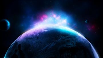 обоя космос, арт, вселенная, планеты, звезды, галактика
