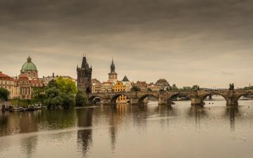 обоя prague, города, прага , Чехия, мост, река