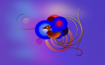 обоя векторная графика, животные , animals, узор, фон, цвета, птица