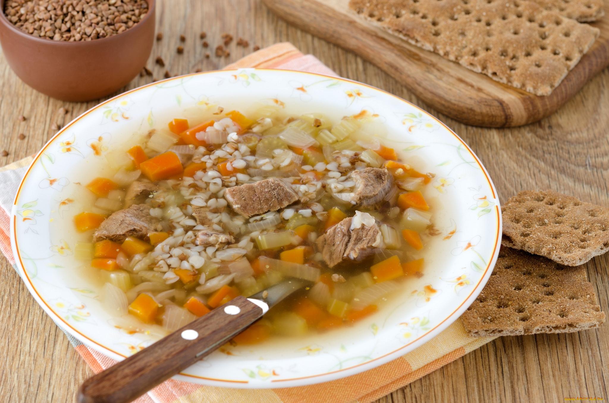 Суп с гречневой крупой рецепт пошагово