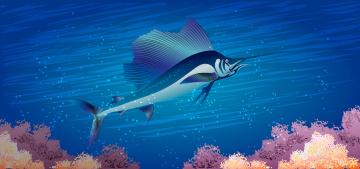 Картинка векторная+графика рыба-меч