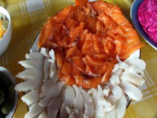 обоя еда, рыба,  морепродукты,  суши,  роллы, палтус, форель