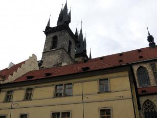 обоя города, прага , Чехия, шпили