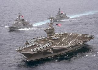 обоя корабли, авианосцы,  вертолётоносцы, море, корабль