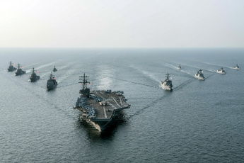 обоя корабли, авианосцы,  вертолётоносцы, флот, армия, оружие, uss, ronald, reagan