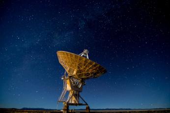 обоя космос, разное, другое, соединенные, штаты, звезды, холмы, антенна, силуэт, нью-мексико, млечный, путь, very, large, array