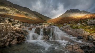 обоя природа, водопады, поток