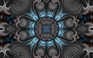 обоя 3д графика, фракталы , fractal, цвета, узор, фон