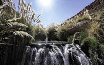 обоя природа, водопады, камни, вода