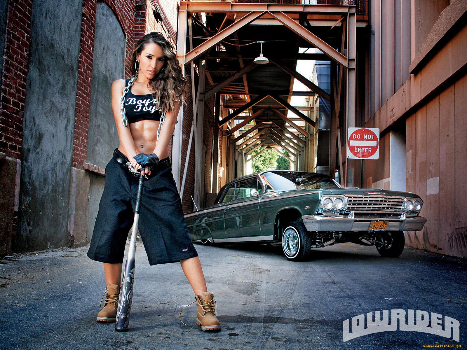 car Girl models lowrider show