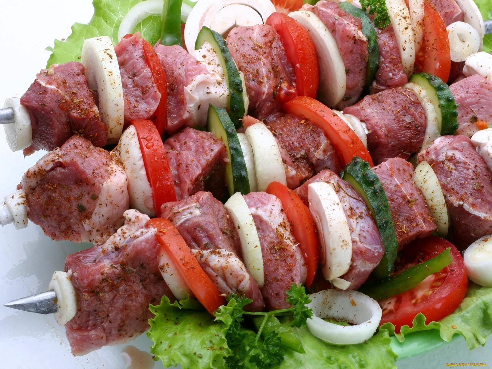 Шашлык из свинины, маринованый в помидорах - пошаговый 31