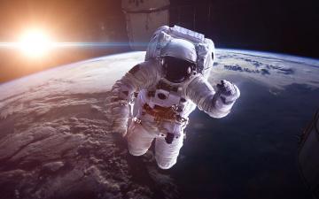 обоя космос, астронавты, космонавты, космонавт, солнце