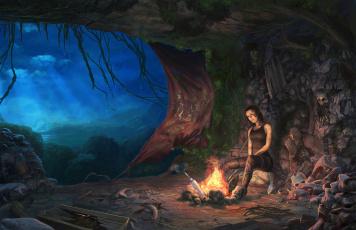 Картинка tomb raider 2013 видео игры лара крофт
