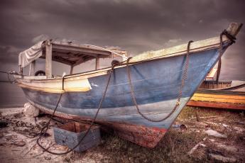 обоя корабли, баркасы ,  буксиры, пляж