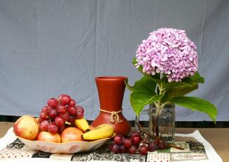 обоя еда, натюрморт, цветы, фрукты