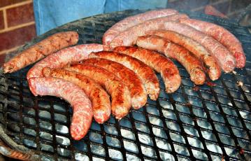 обоя еда, колбасные изделия, barbecue, sausages