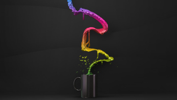обоя 3д графика, другое , other, узор, фон, цвета, чашка, брызги