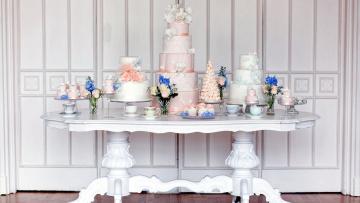 обоя еда, торты, многоярусные, свадебные