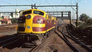 Картинка техника поезда железная дорога рельсы локомотив состав
